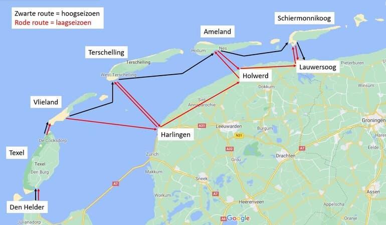 eilandhoppen wadden route