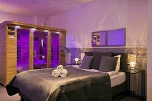 hotelkamer met prive sauna en jacuzzi