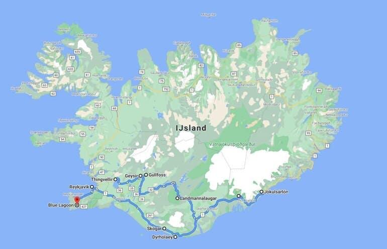 roadtrip ijsland 1 week