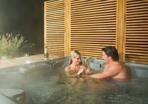 vakantiehuisje met jacuzzi en sauna