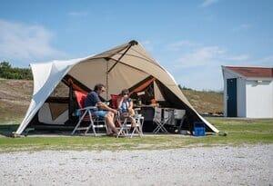 kleine camping met prive sanitair texel