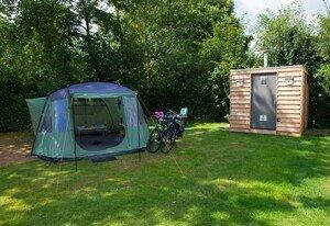 kleine camping met prive sanitair veluwe
